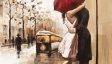 wedding-decoration-Couples-umbrella-love-street-painting-home-decor-wall-art-canvas-prints-bar-cafe-Bedroom